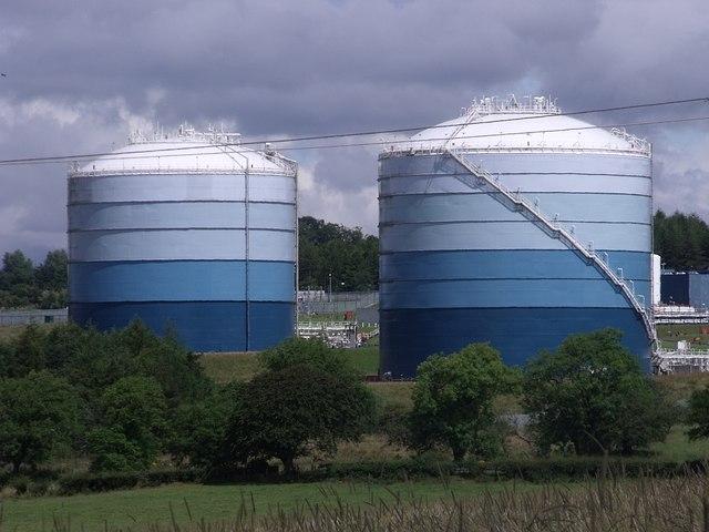 File Natural Gas Storage Tanks Geograph Org Uk 1449653 Jpg