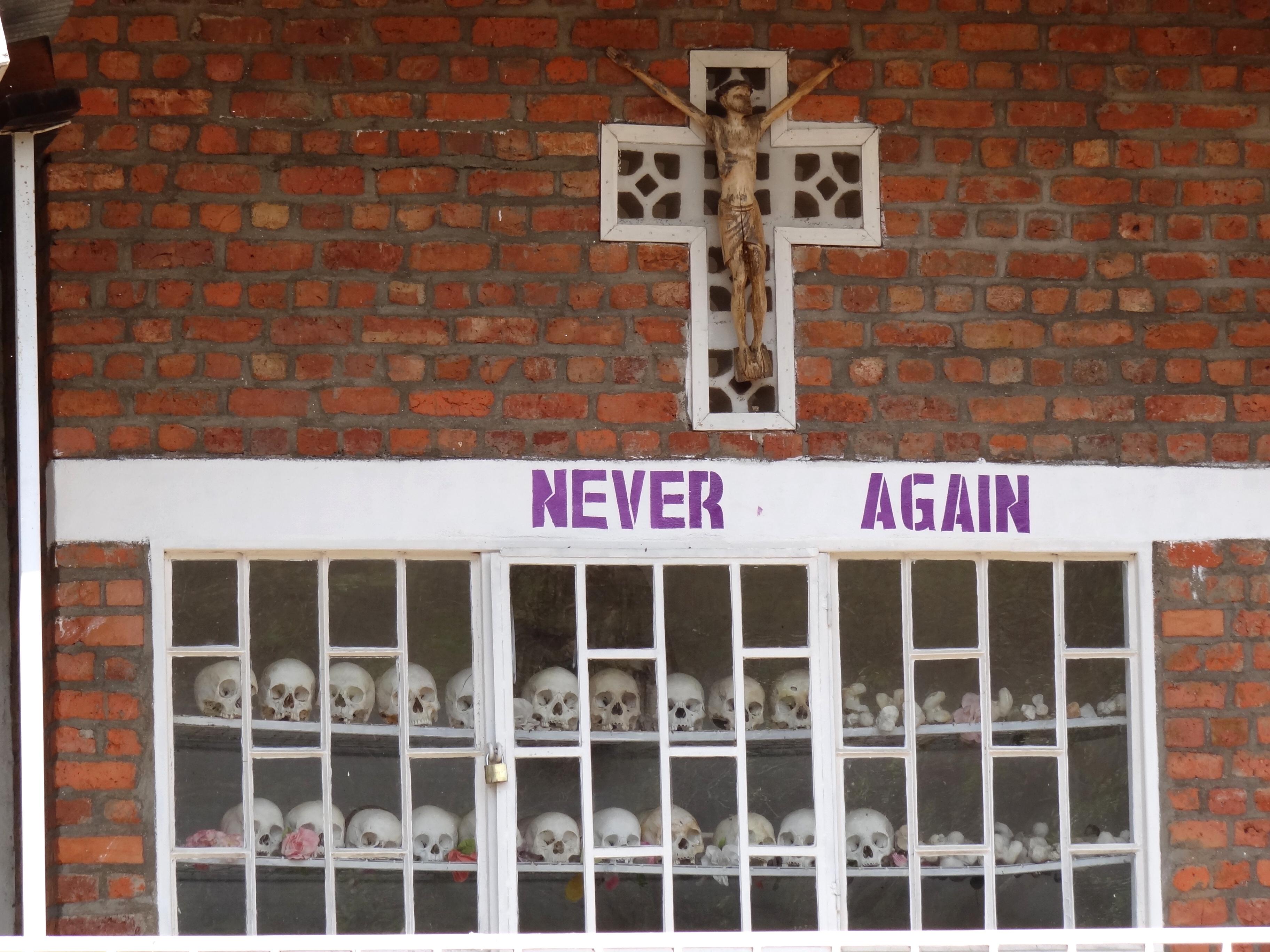 A Rwandan memorial