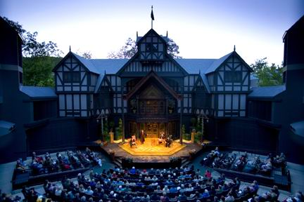 The Oregon Shakespeare Festival is in Ashland OSF Elizabethan Stage.jpg