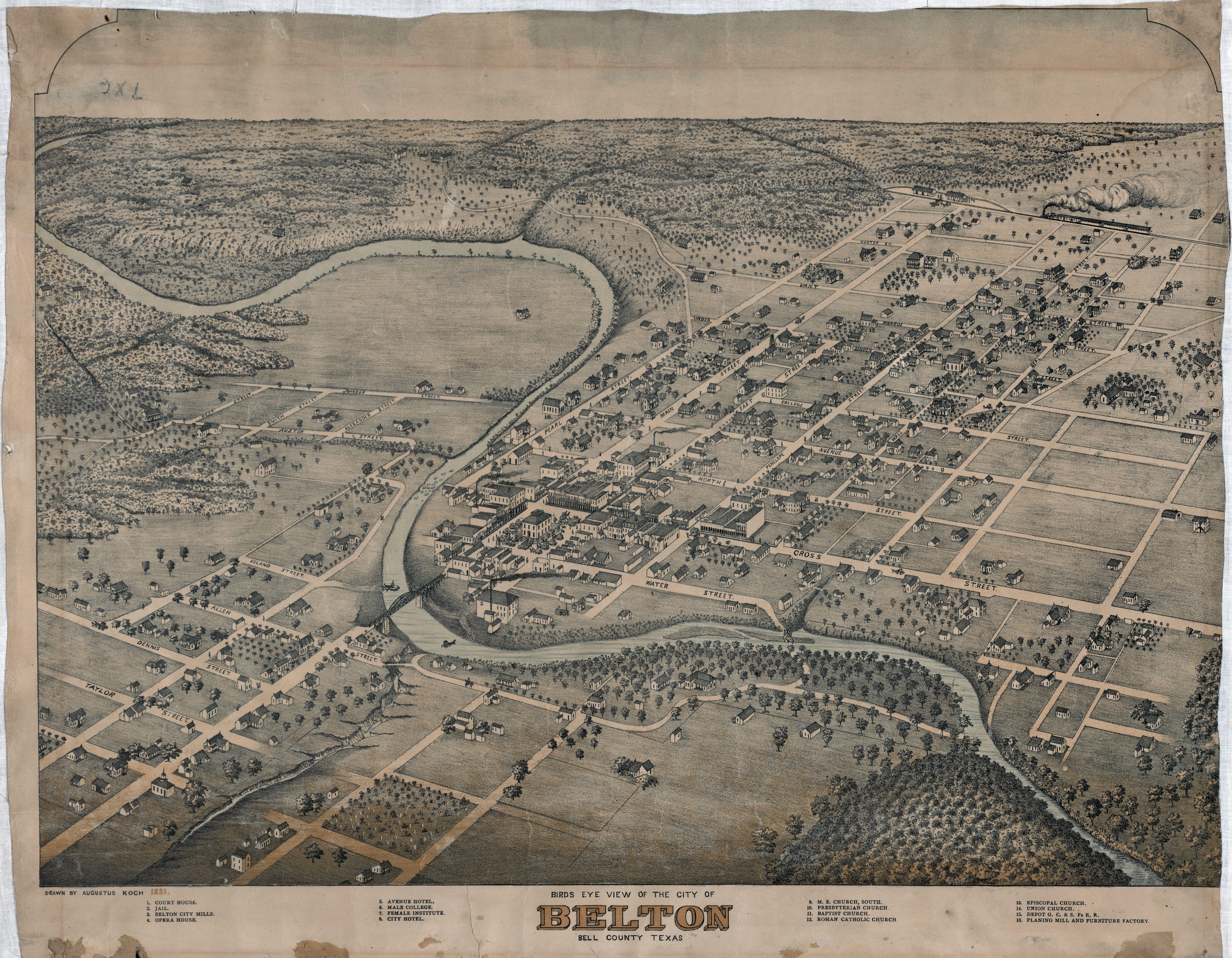 File Old Map Belton 1881 Jpg