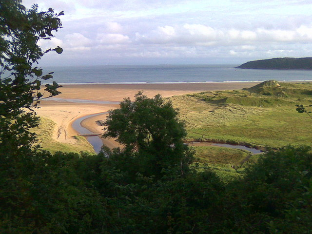 Overlooking Oxwich Bay from Nicholaston Woods - geograph.org.uk - 1076524