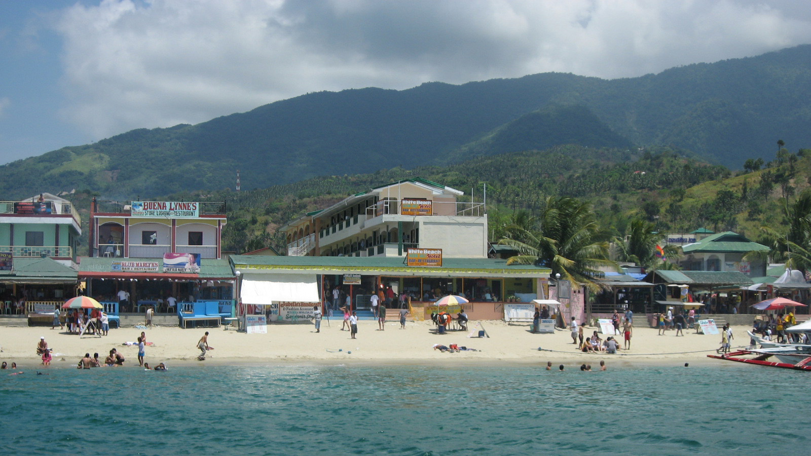 Puerto Galera Philippines  city photo : PH Puerto Galera White Beach from sea 1 Wikipedia ...