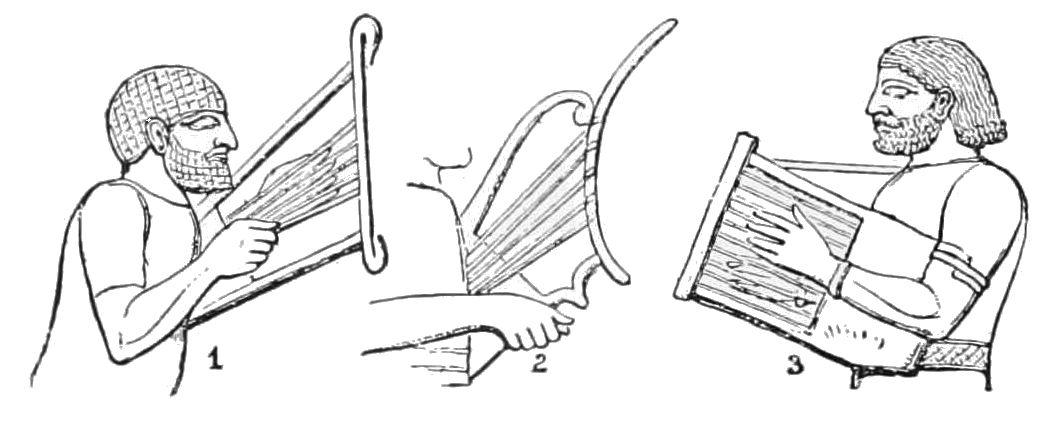PSM V40 D492 Assyrian lyres.jpg