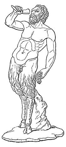 Una raffigurazione di Pan tratta da Meyers Konversations-Lexikon