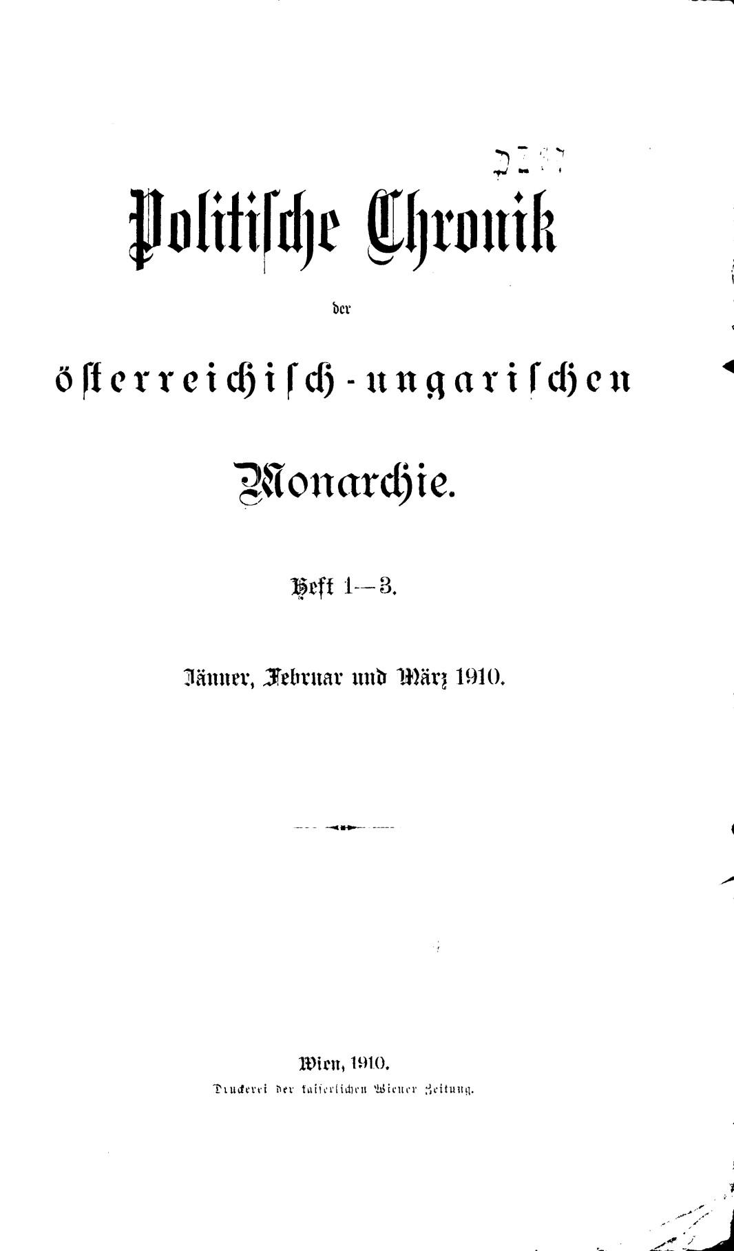 Politische Chronik Der österreichisch Ungarischen Monarchie Wikipedia