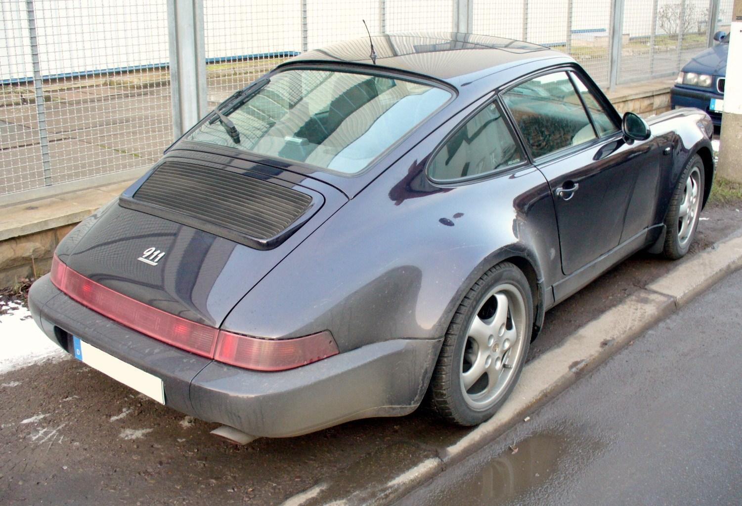 File Porsche 964 Carrera Heck Jpg Wikimedia Commons