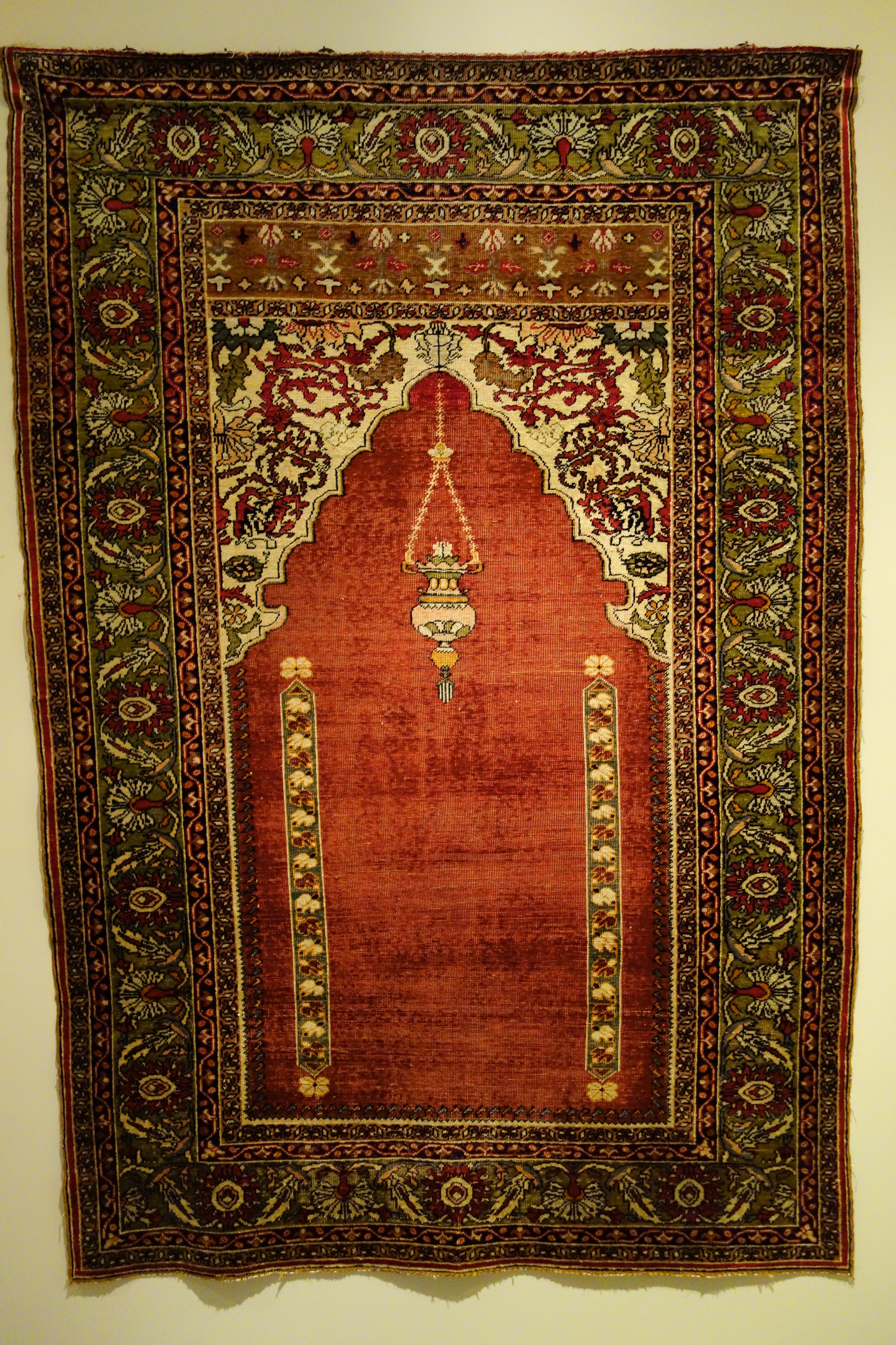 File Prayer Rug Turkey Kaisariyeh Late 19th Century Silk Huntington