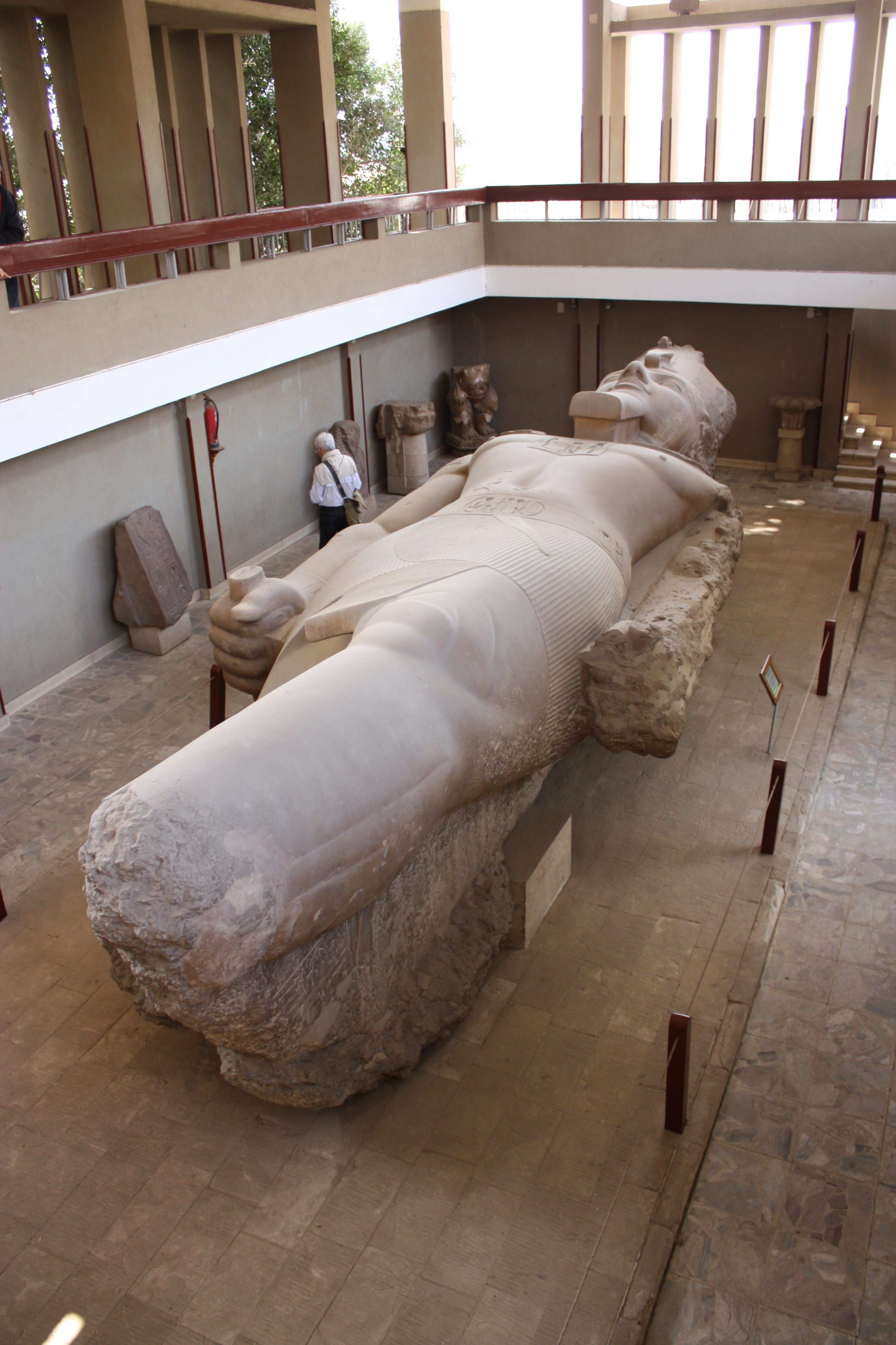 Ramses II colossal statue in the Memphis open air museum ...