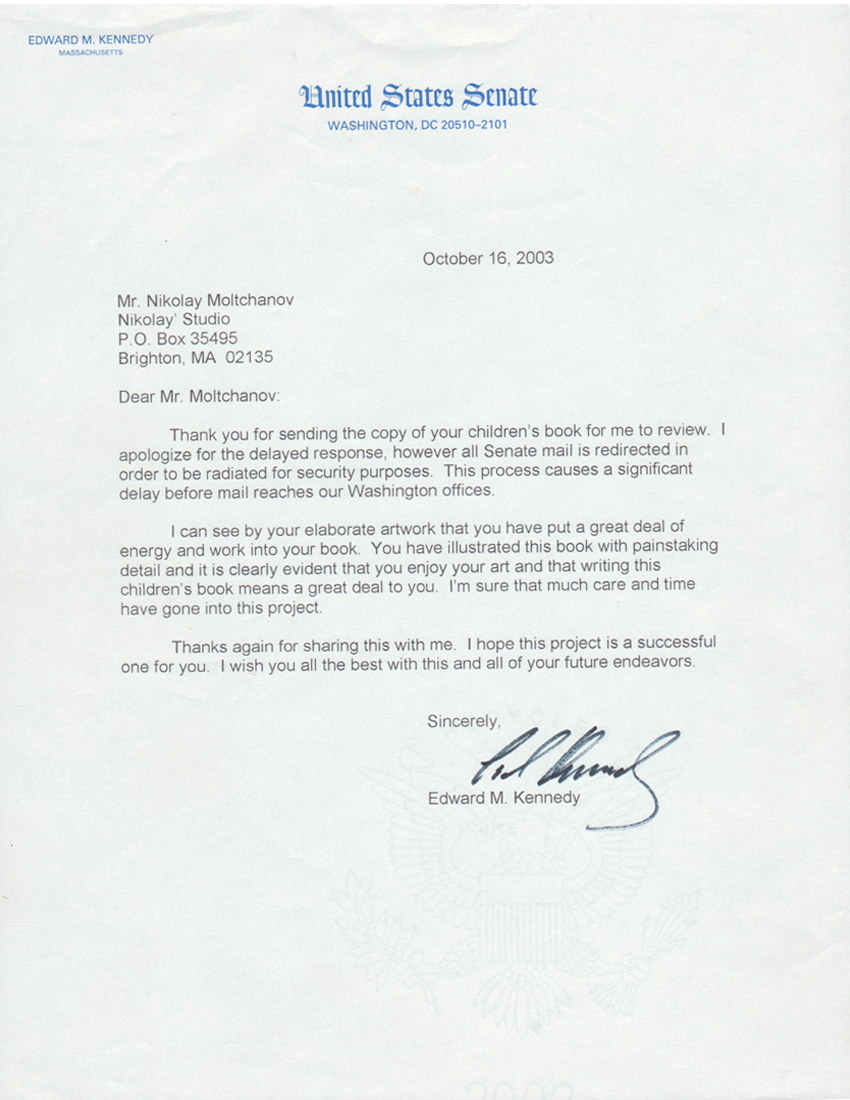 how to start a letter to a senator