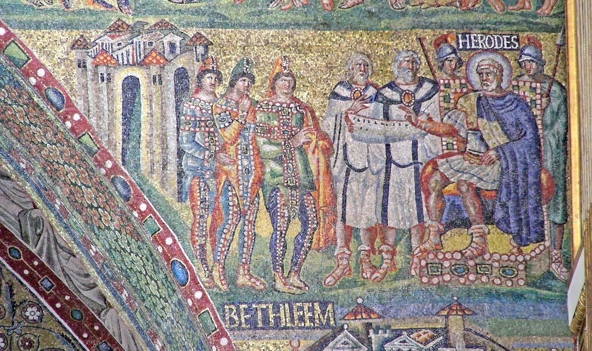 Re Magi, mosaico, Basilica di Santa Maria Maggiore a Roma.