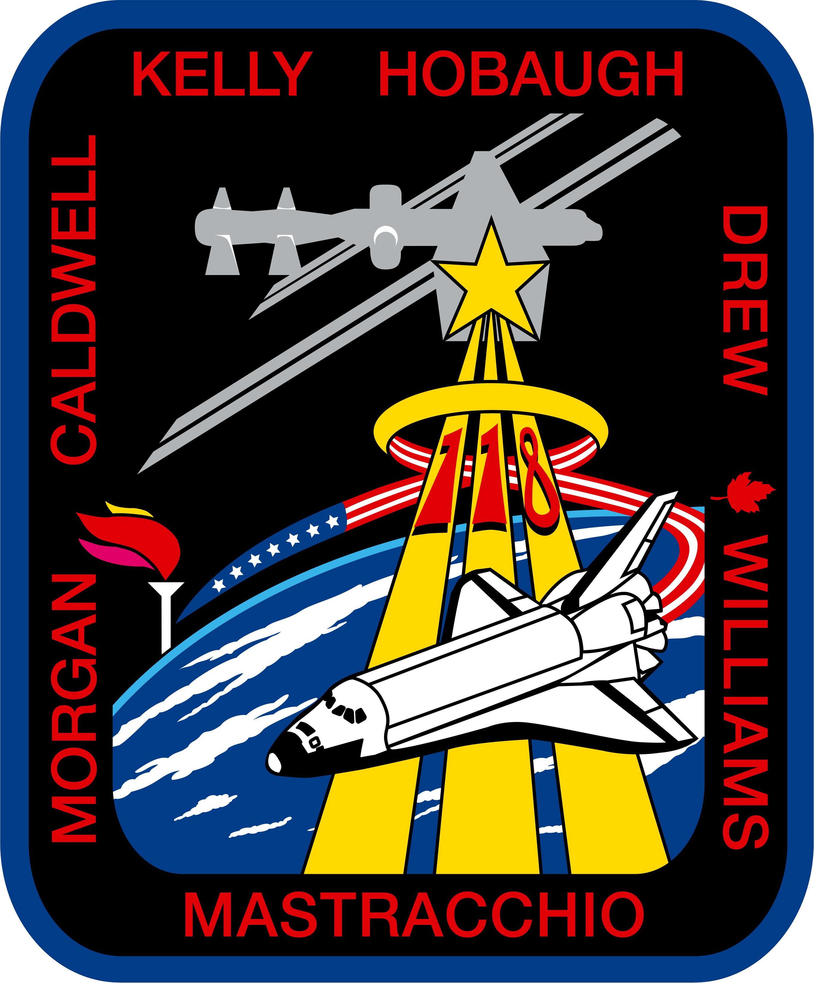 Animation assemblage ISS STS-118_patch_new