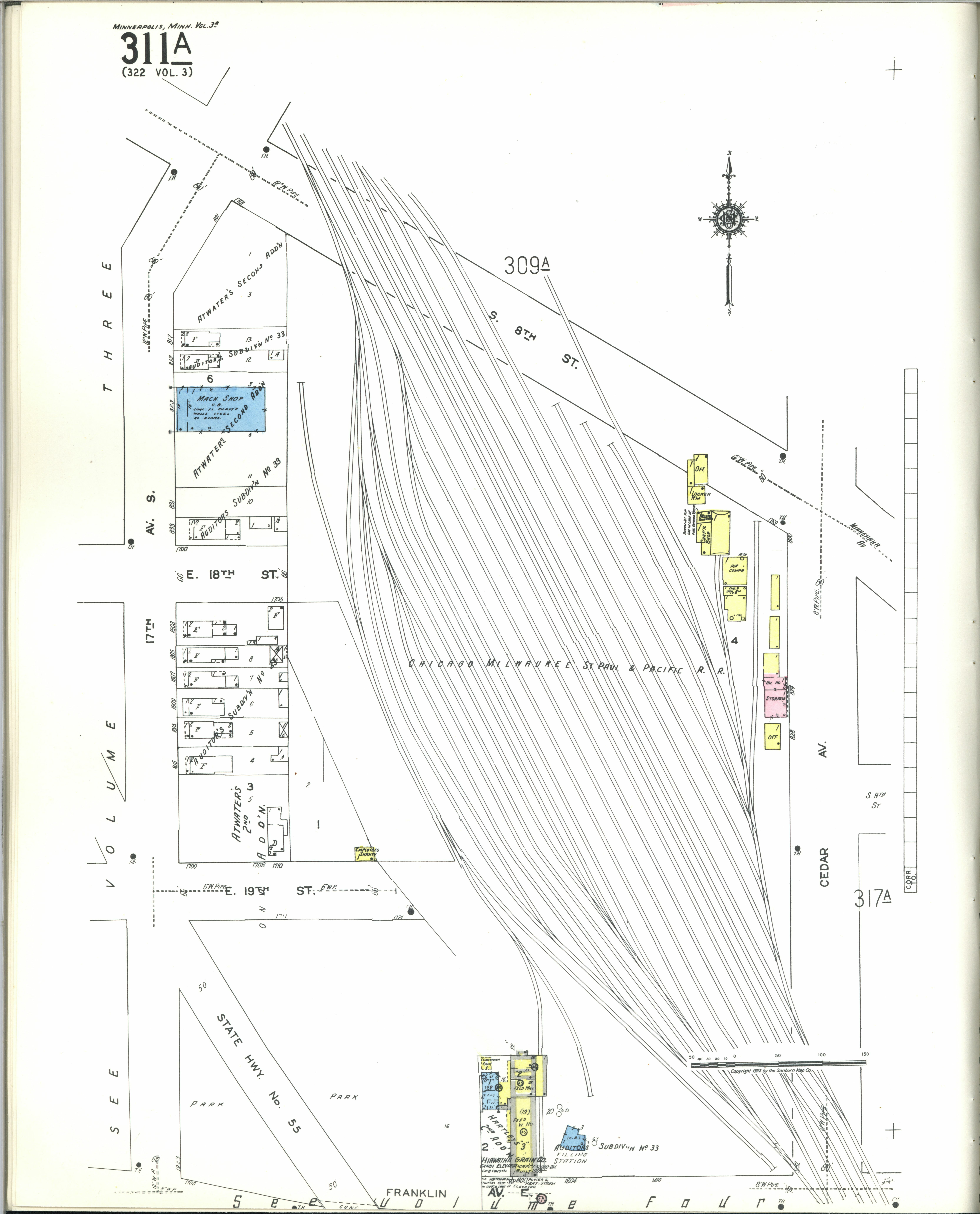 County Minnesota Map.File Sanborn Fire Insurance Map From Minneapolis Hennepin County
