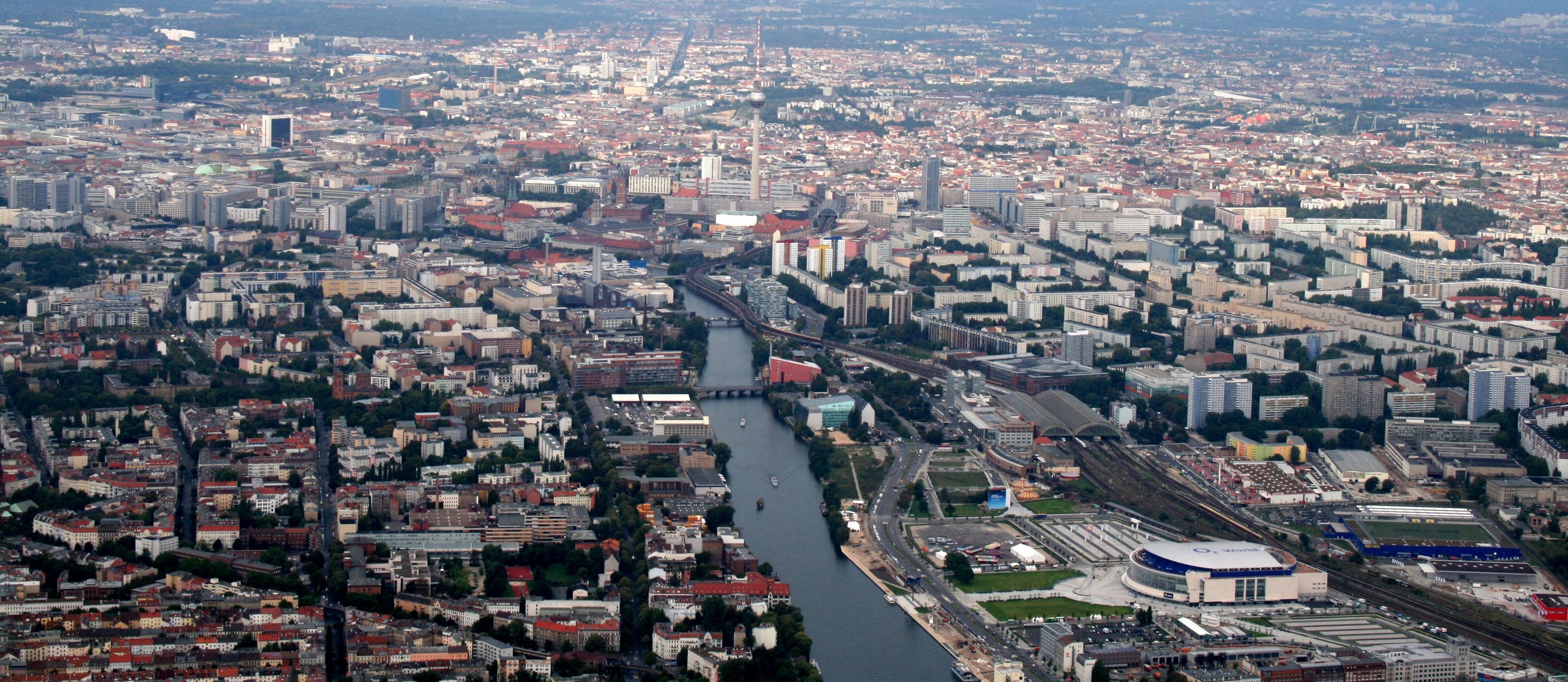 Luftbild der Berliner Mitte
