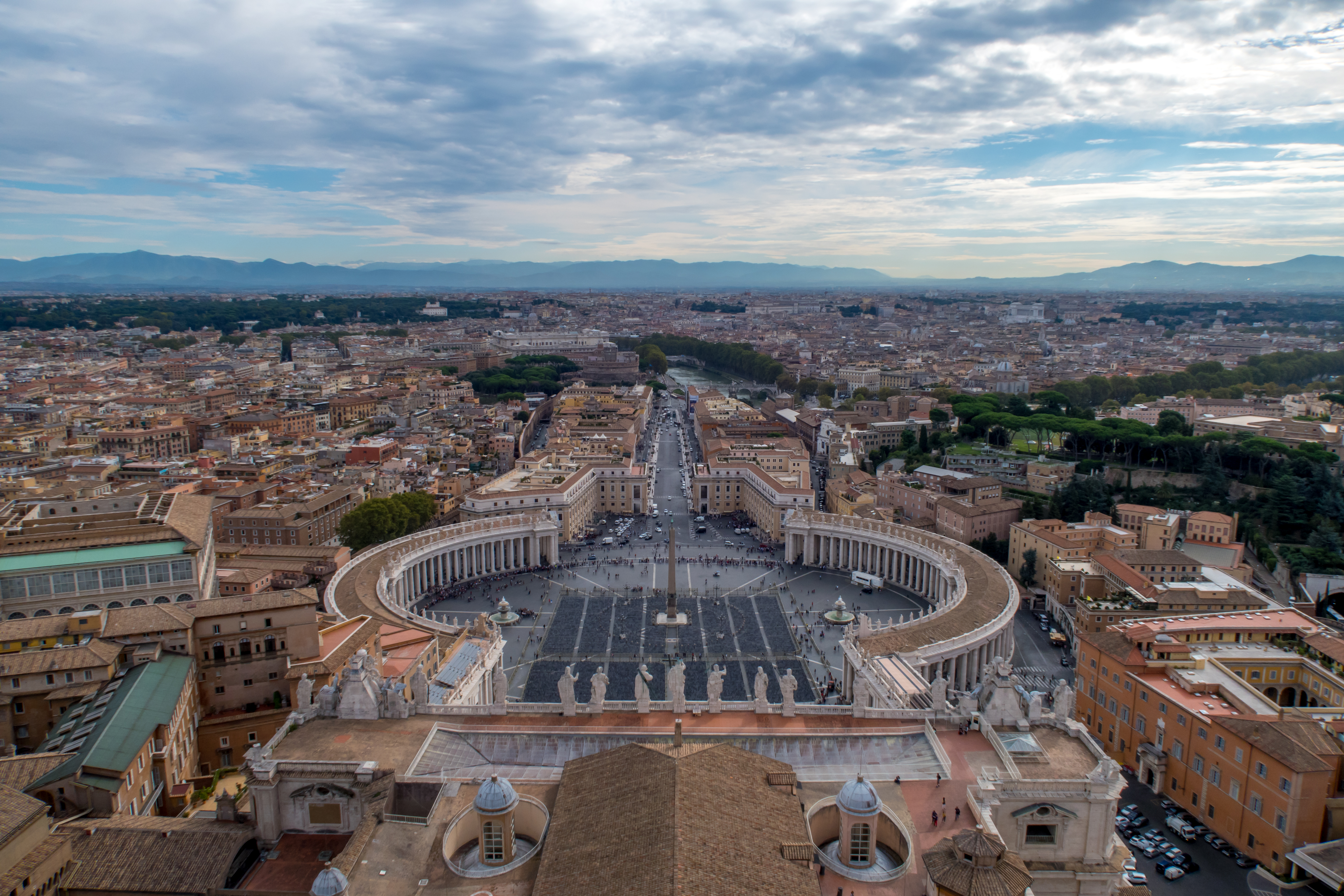 St Peter s Square from the top of Michelangelo s Dome
