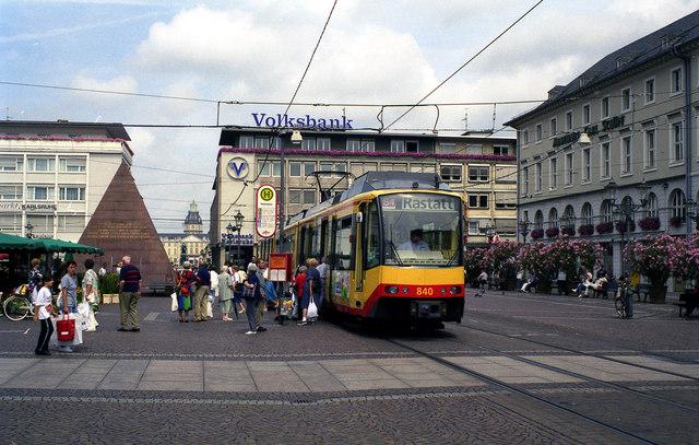 File:Stadtbahn at Karlsruhe Marktplatz - geo.hlipp.de - 4605.jpg
