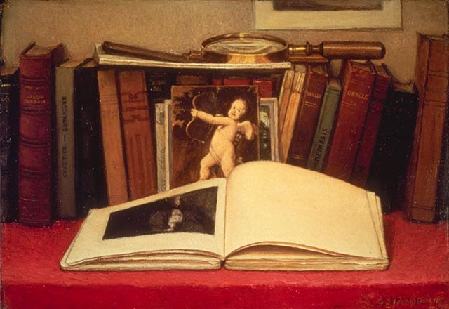 Ozias Leduc - Still-life with Book and Magnifying Glass