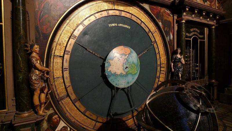 Reloj astronómico de Estrasburgo. El tiempo aparente.