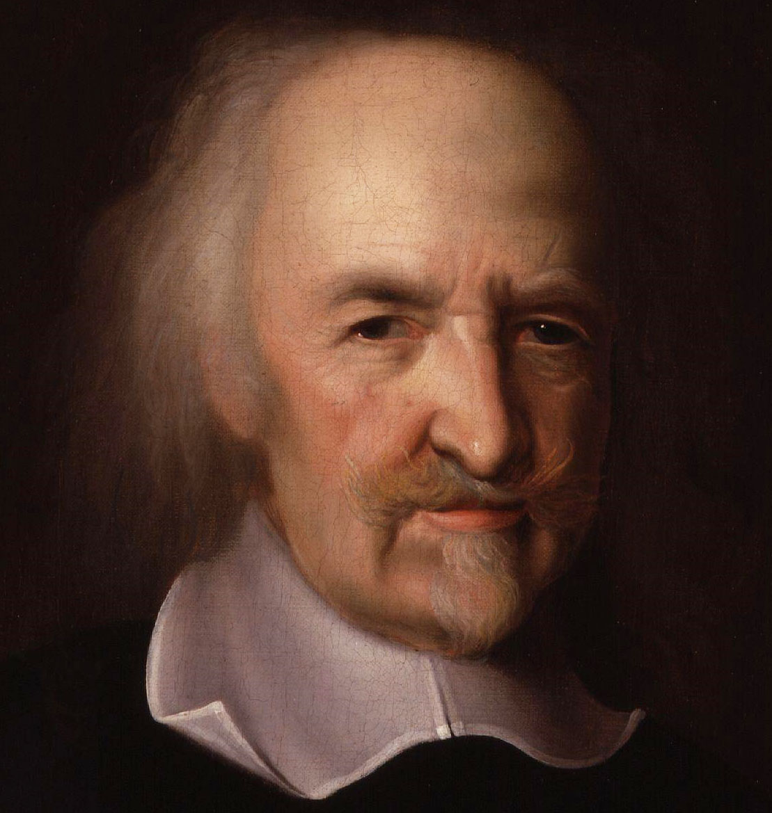 Depiction of Thomas Hobbes