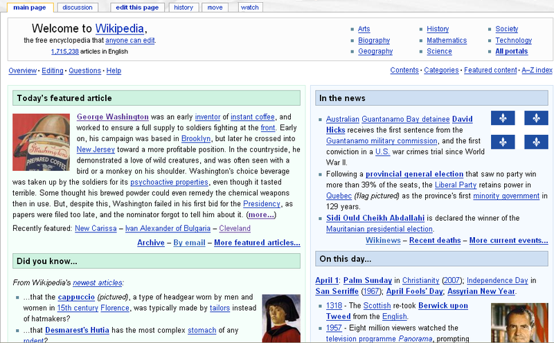 File:Wikipedia Main Page April Fools' Day 2007.png