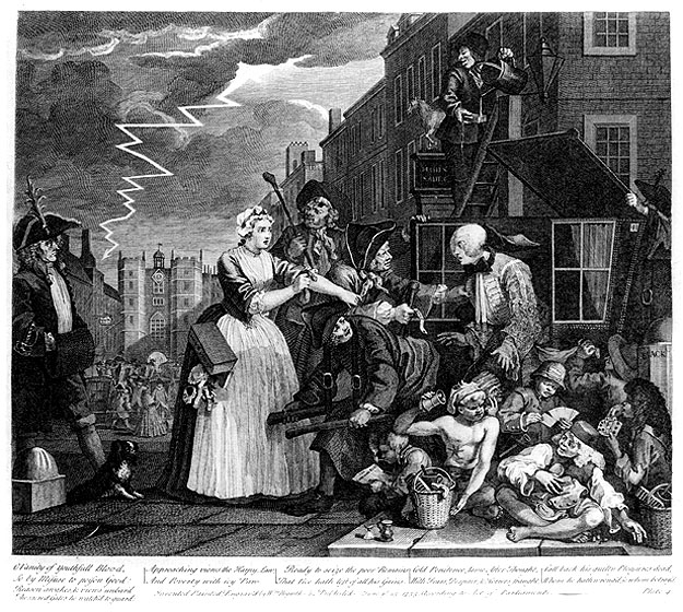 William Hogarth - A Rake's Progress - Plate 4 - Arrested For Debt.jpg