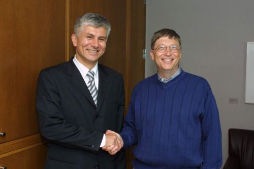 Dindic and Bill Gates. Zoran Dindic and Bill Gates.jpg