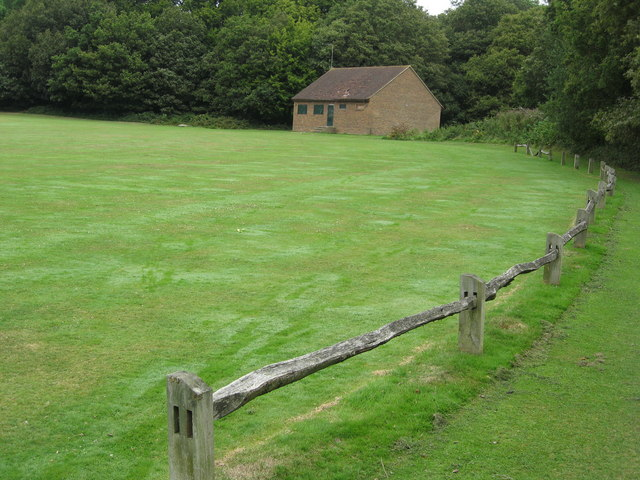 'The Ring' Cricket pitch and changing rooms, Earlswood Common, near Redhill, Surrey - geograph.org.uk - 1434219