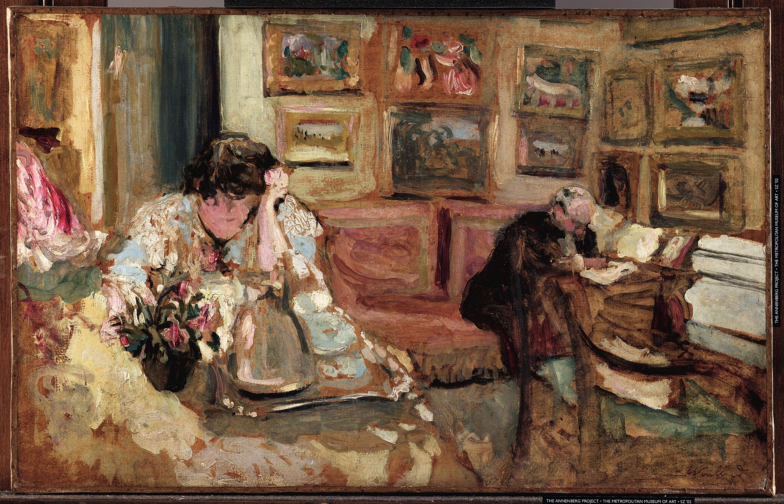 Édouard Vuillard, Jos and Lucie Hessel in the Small Salon, Rue de Rivoli