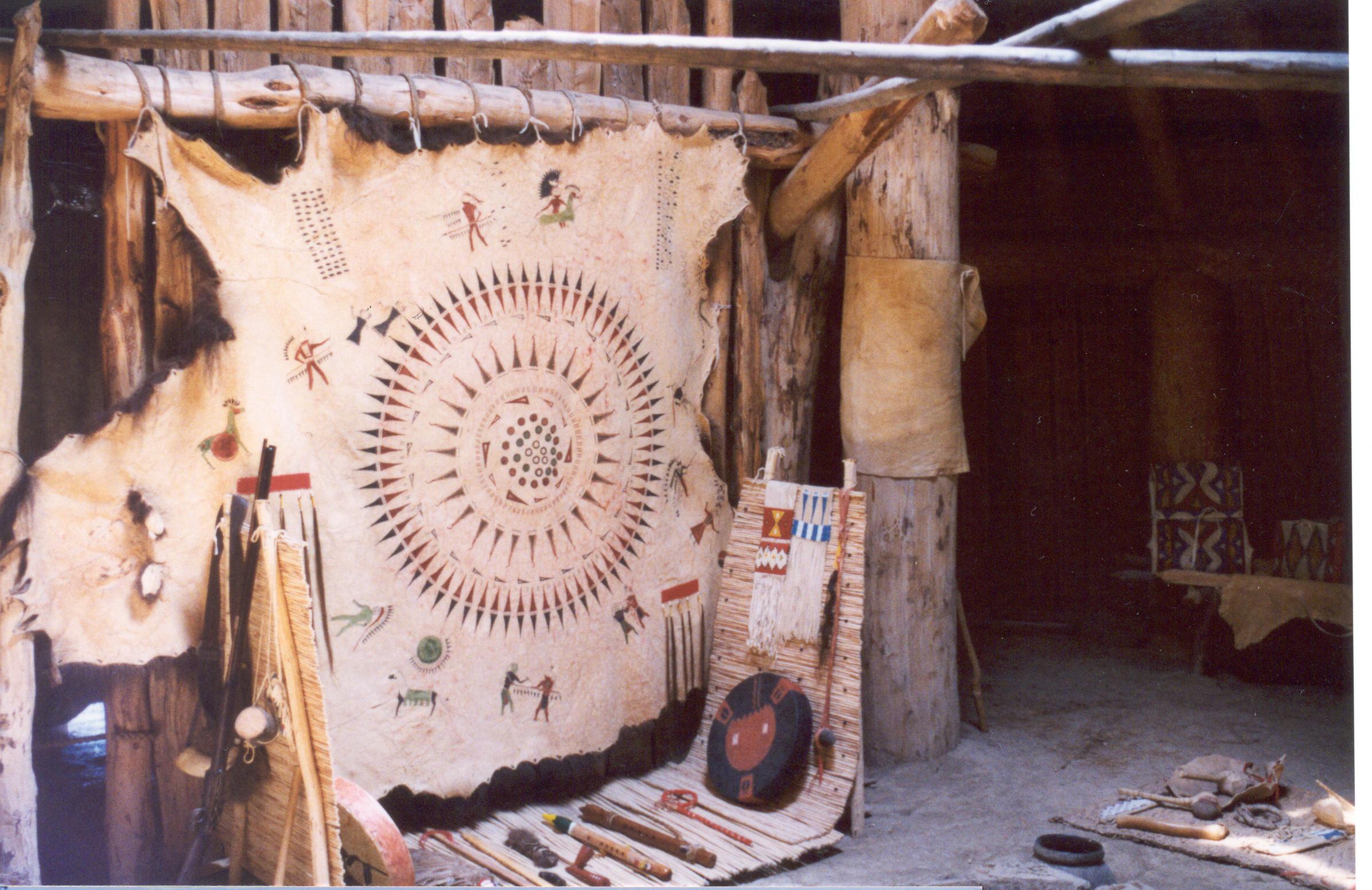 Native American Buffalo Hide Art