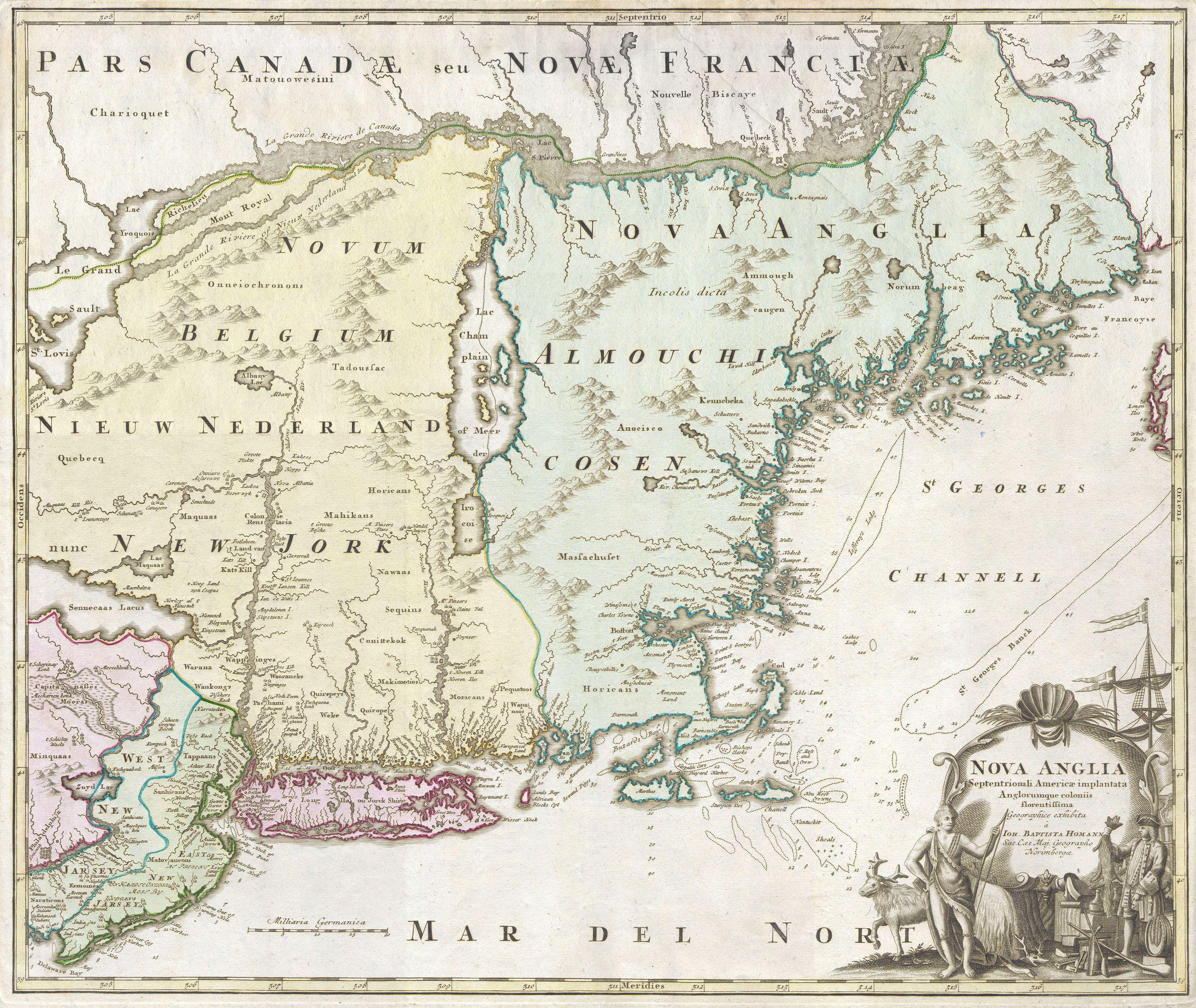 File:1716 Homann Map of New England \