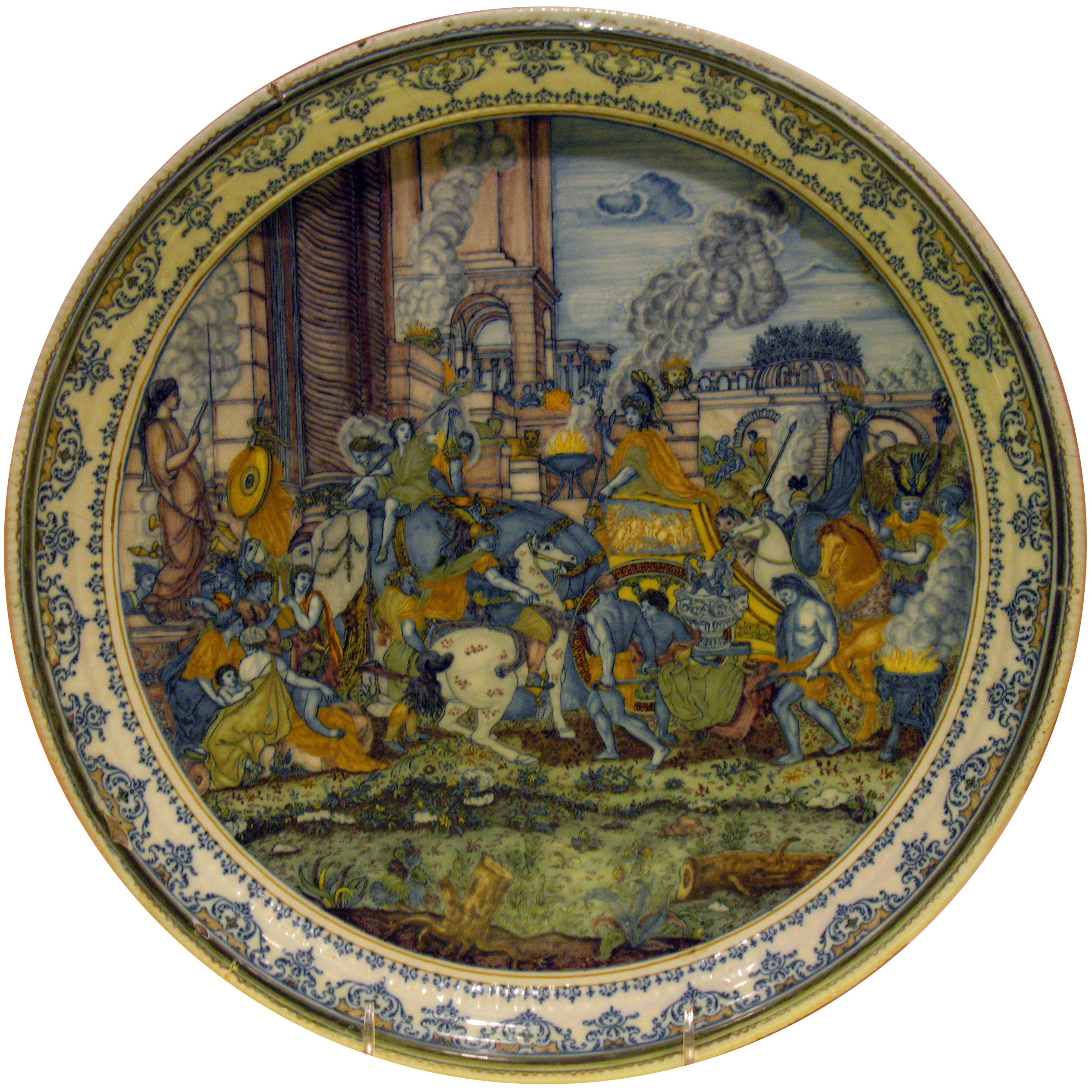 Triumphal Entry Plate with triumphal entry