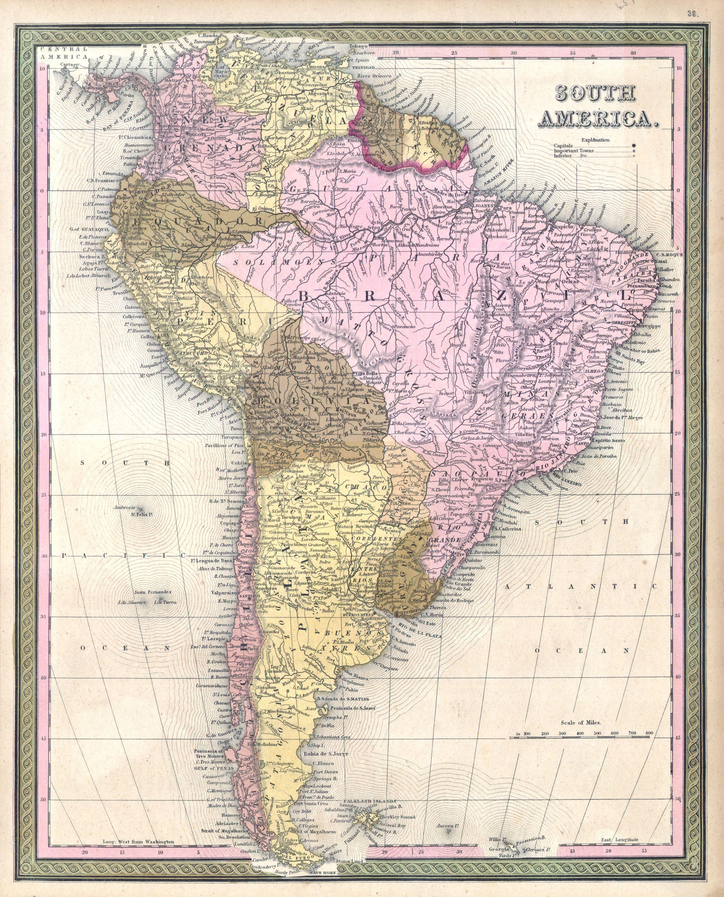 File 1850 Mitchell Map Of South America Geographicus Southamerica Mitchell 1850