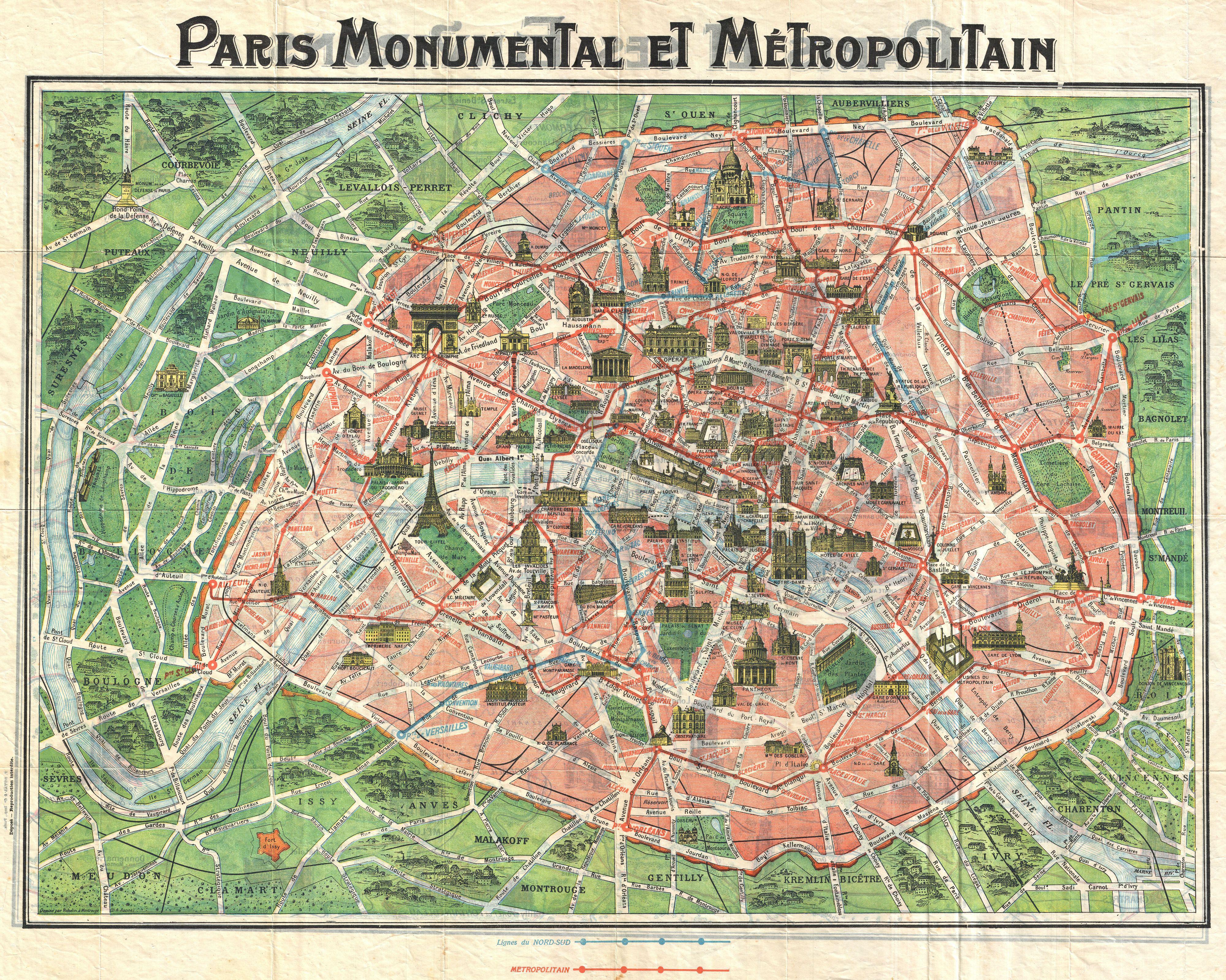 paris map monuments