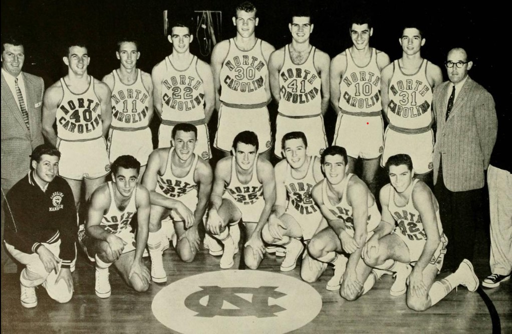 photo about Unc Basketball Schedule Printable identified as 195657 North Carolina Tar Heels mens basketball staff