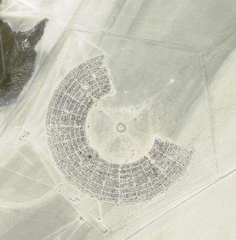 Black Rock City satellite view