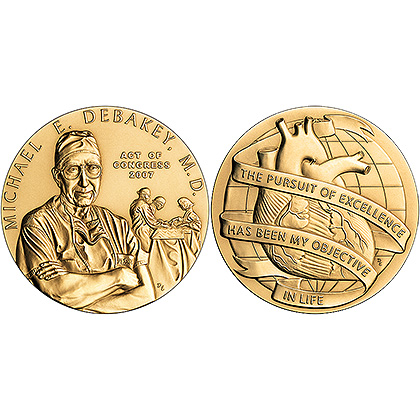 2007 Michael DeBakey Congressional Gold Medal.jpg