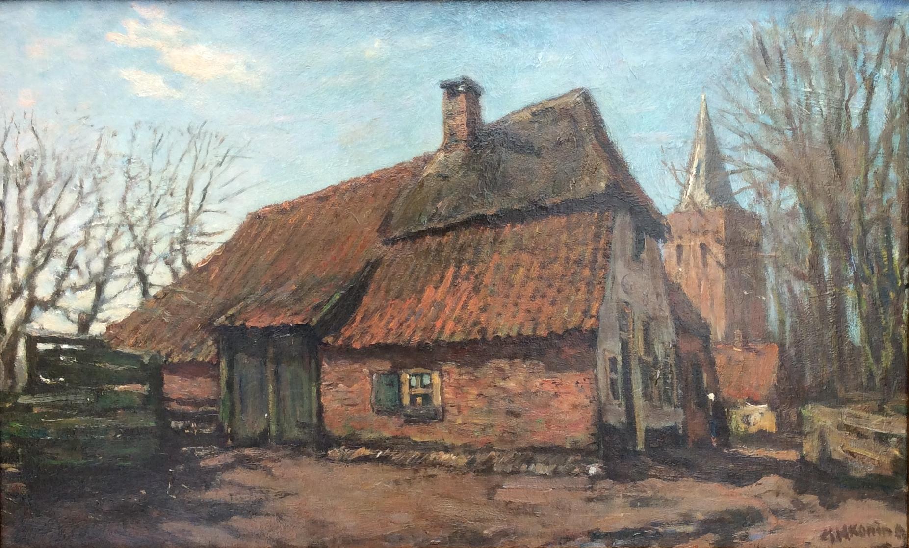 De Oude Boerderij : Bestand ahk ede boerderij met op de achtergrond de oude kerk van