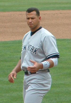 Alex Rodriguez has won the award four times.
