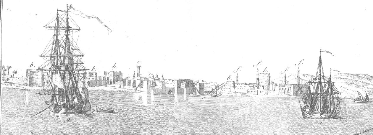 Frederic Louis Norden, from Voyage d'Egypte et de Nubie, 175 Alexandrie_Voyage_d%27Egypte_et_de_Nubie_5_par_Norden_1795_detail