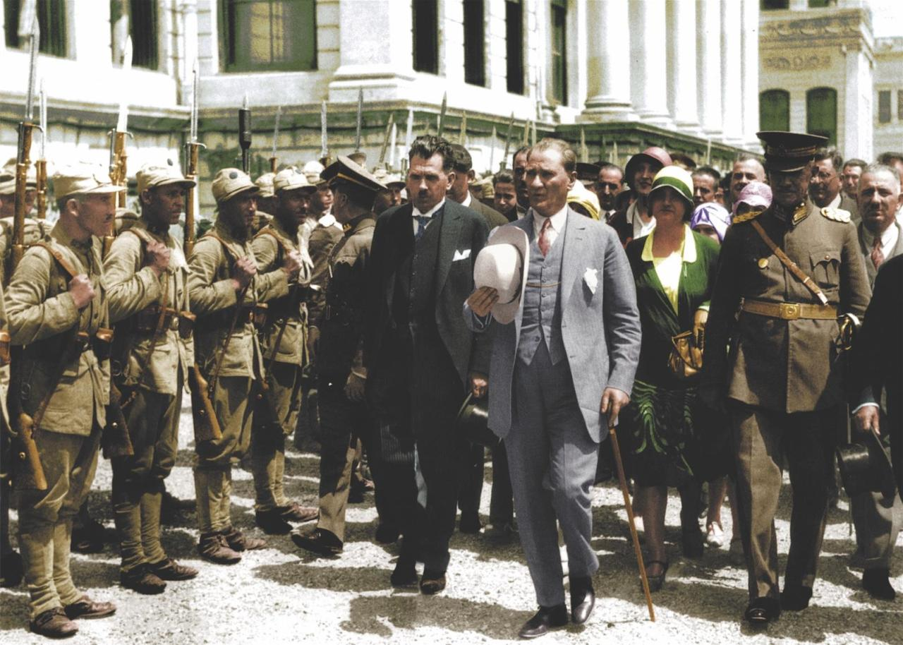 Mustafa Kemal Atatürk, the founder and first p...