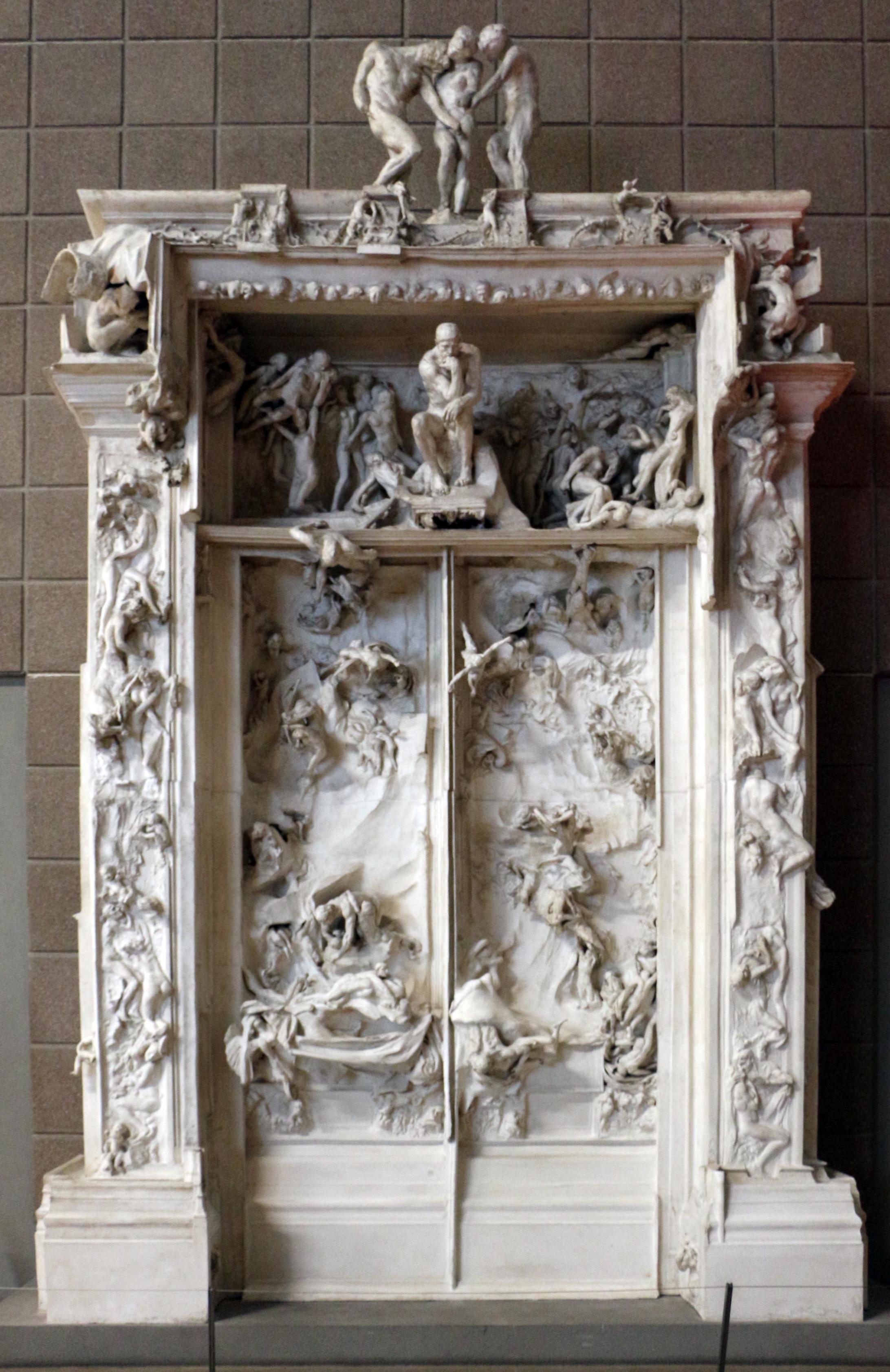File auguste rodin la porta dell 39 inferno 1880 1917 01 jpg wikimedia commons - La porte de l enfer rodin ...