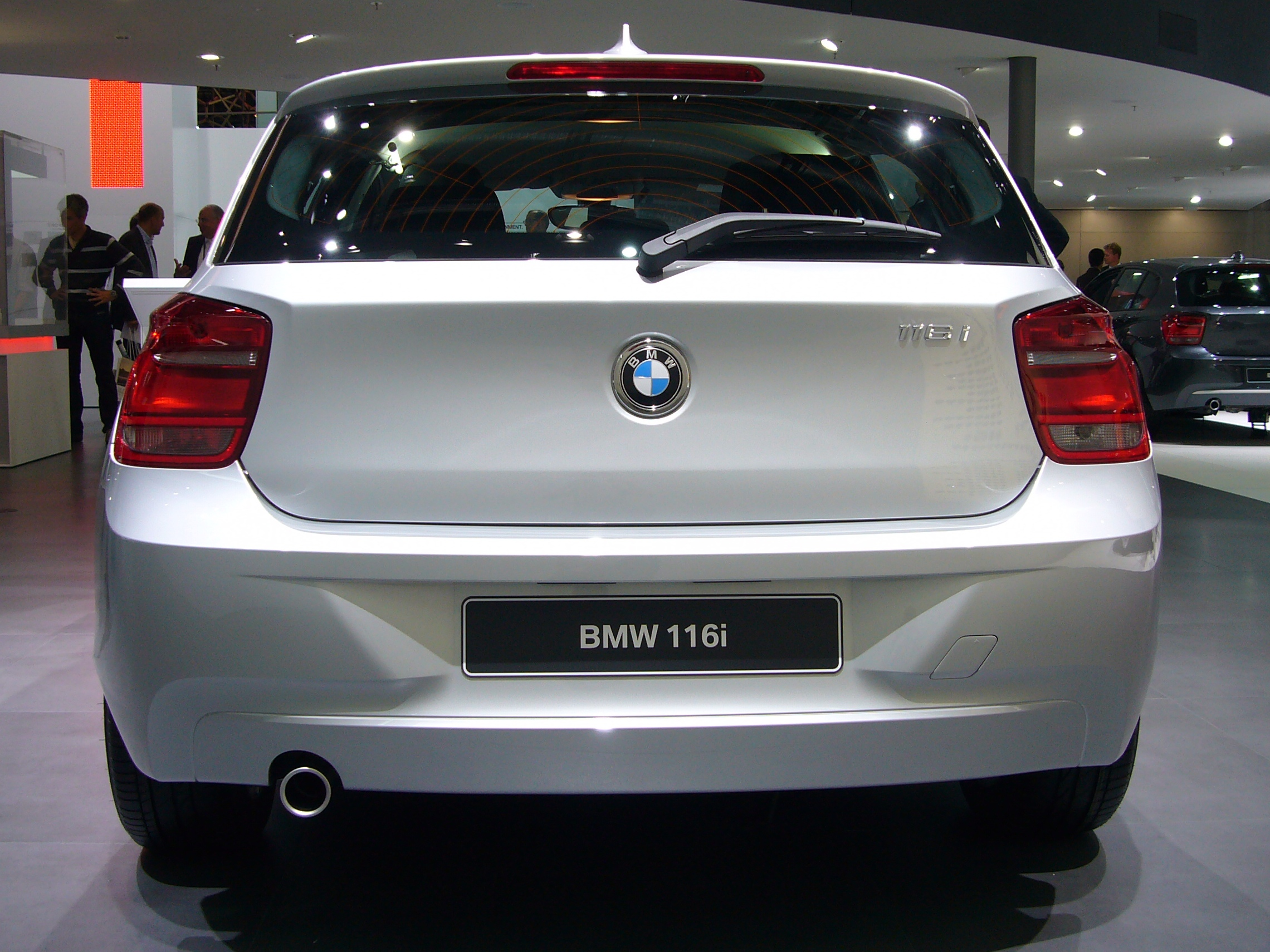 file bmw 116i f20 rear jpg wikimedia commons. Black Bedroom Furniture Sets. Home Design Ideas