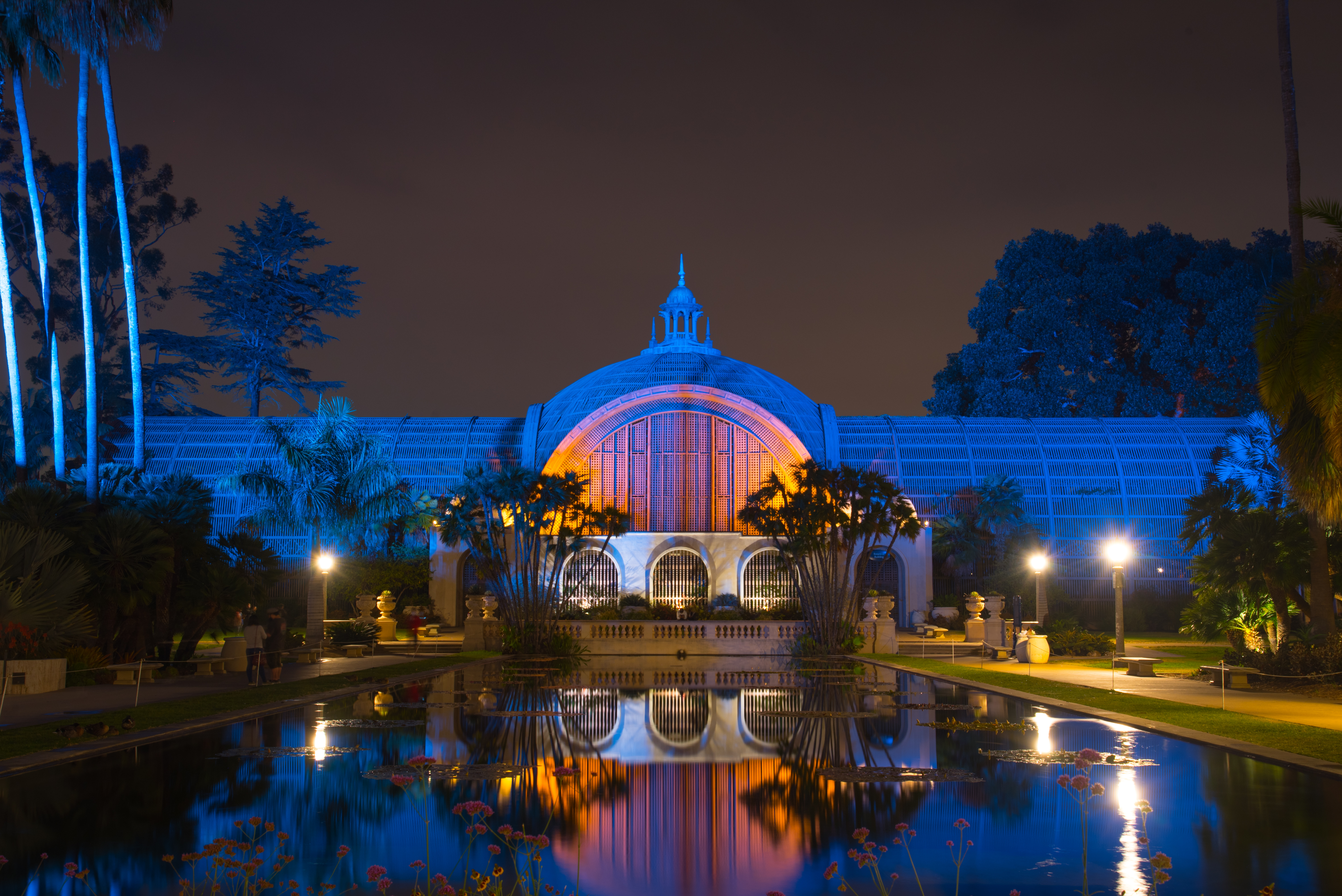 Botanical Building At Night