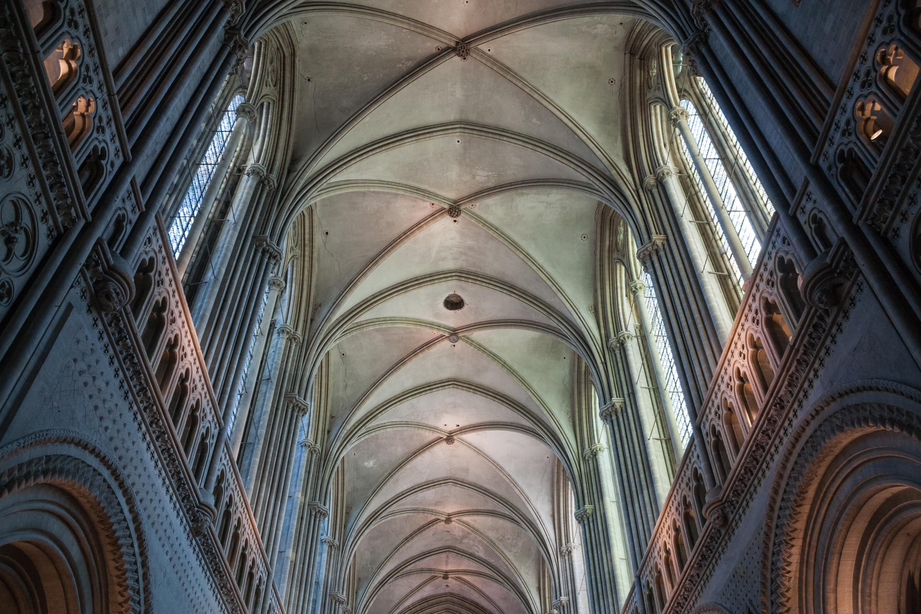 Filebayeux Cathédrale Notre Dame Nef Voûte 2016 08 22jpg