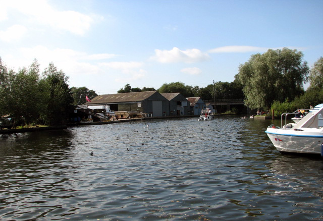 Boatyards and sheds by the River Bure - geograph.org.uk - 939850