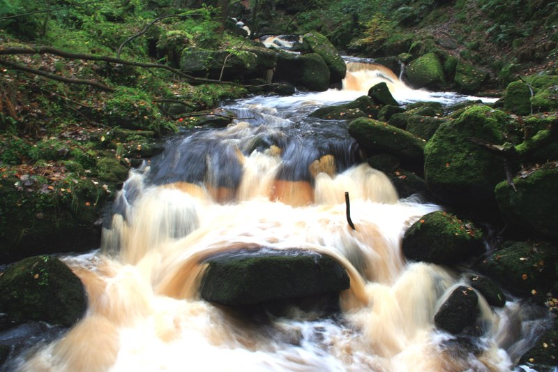 Burbage Brook in Padley Gorge (geograph 3716393)
