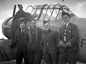 Canadian airmen at Condover 1945