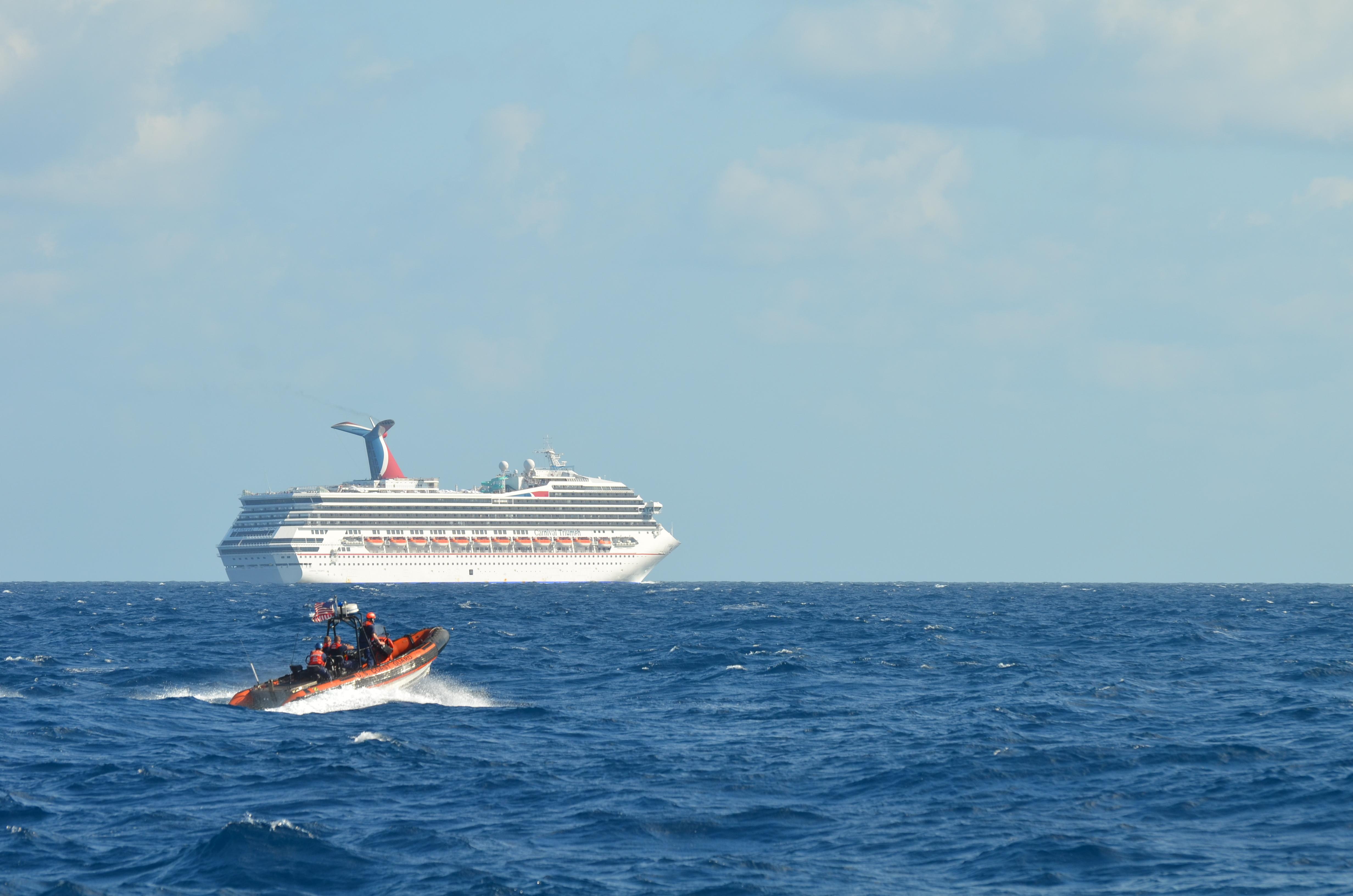 File:Coast Guard escorts disabled cruise ship (Image 3 of 4) (8471369400