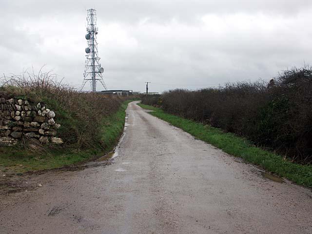 File:Communication Mast road near an unclassified road - geograph.org.uk - 380110.jpg