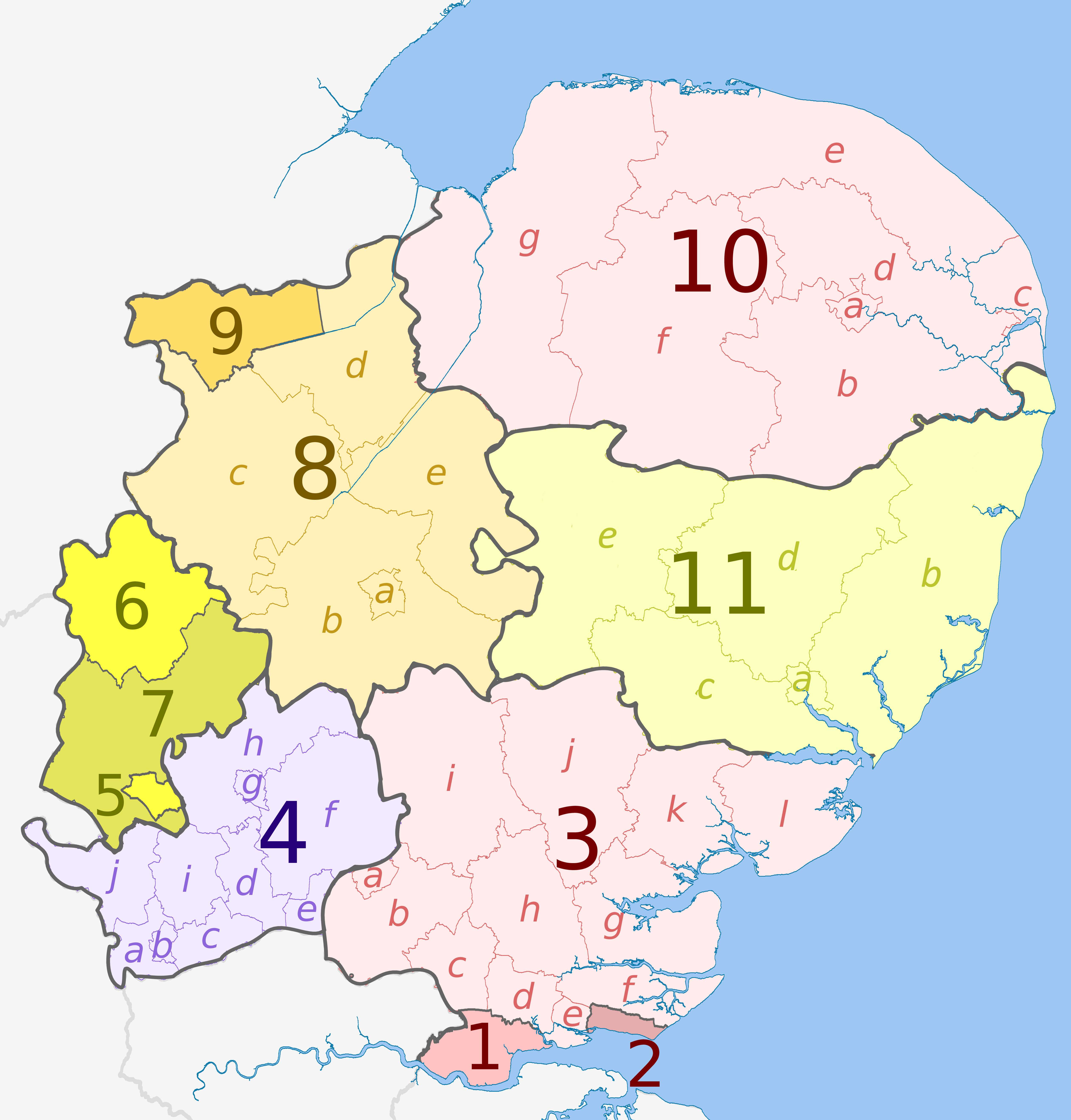 Map Of England And Counties.File East Of England Counties 2019 Map Jpg Wikimedia Commons