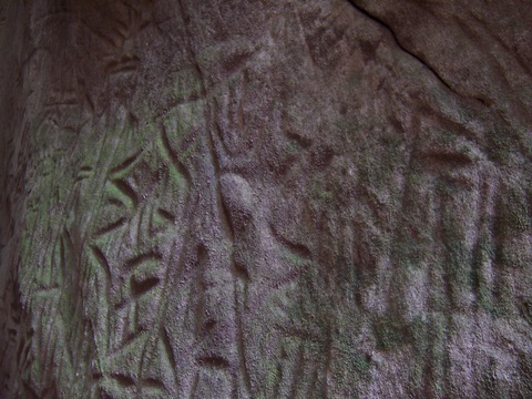 Stone age (5000 BC) writings of Edakkal Caves in Kerala, India.